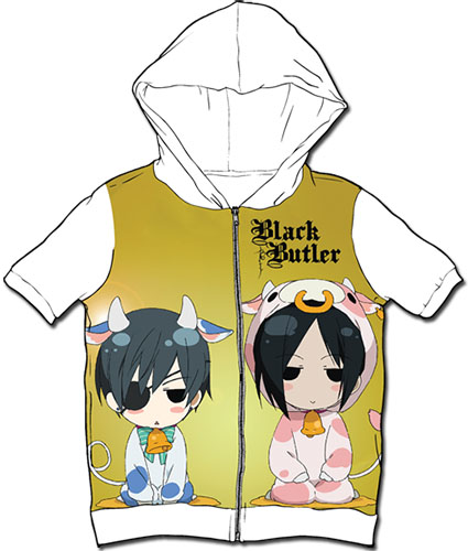 Black Butler - Sd Cow Ciel & Cow Sebastian Sublimated Hoodie M, an officially licensed Black Butler product at B.A. Toys.