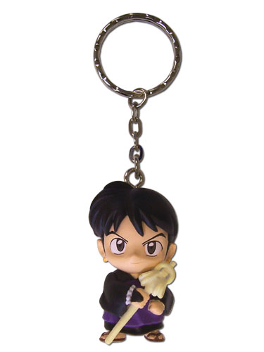 Inuyasha Miroku Da 3D Key Chain, an officially licensed product in our Inuyahsa Key Chains department.