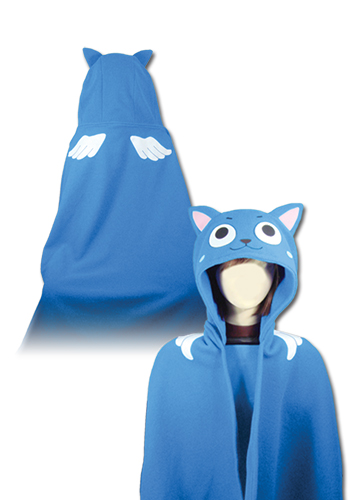 Fairy Tail - Happy Hoodie Blanket, an officially licensed Fairy Tail Blanket/ Linen