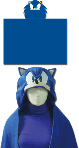 Sonic The Hedgehog - Sonic Hooded Blanket officially licensed Sonic Blankets & Linen product at B.A. Toys.