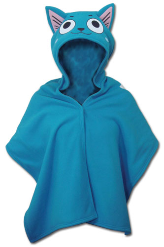 Fairy Tail - Happy Short Hoodie Blanket, an officially licensed product in our Fairy Tail Hoodies department.