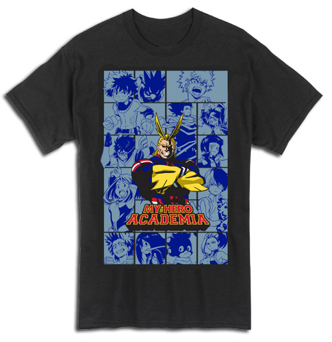 My Hero Academia - Group Panels T-Shirt L officially licensed My Hero Academia T-Shirts product at B.A. Toys.