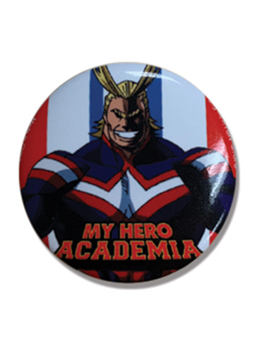 My Hero Academia - Allmight Button 1.25'', an officially licensed product in our My Hero Academia Buttons department.