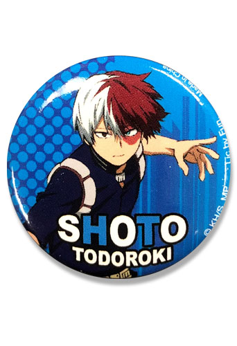My Hero Academia S2 - Shoto Button 1.25'', an officially licensed product in our My Hero Academia Buttons department.