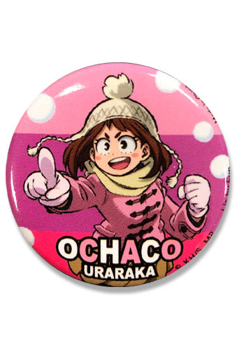 My Hero Academia S2 - Ochaco Button 1.25'', an officially licensed product in our My Hero Academia Buttons department.