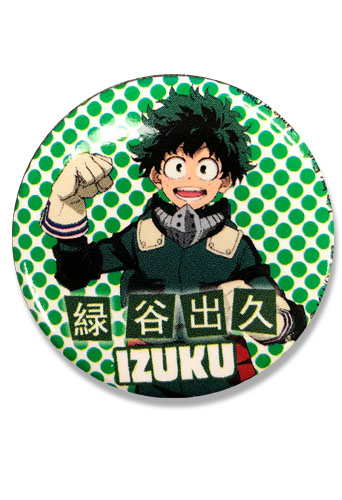 My Hero Academia S2 - Izuku Button 1.25'', an officially licensed product in our My Hero Academia Buttons department.