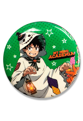 My Hero Academia S2 - Halloween Izuku Button 1.25'' officially licensed My Hero Academia Buttons product at B.A. Toys.