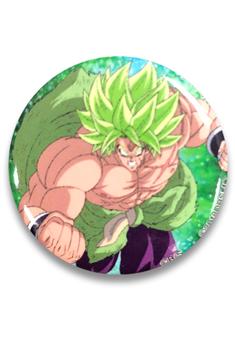 Dragon Ball Super Broly - Ss Broly Button, an officially licensed product in our Dragon Ball Super Broly Buttons department.