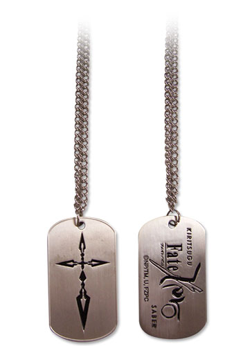 Fate/zero Kiritsugu Saber Command Seal Dog Tag Necklace