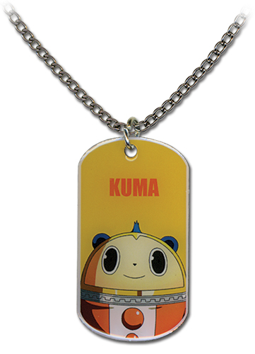 Persona 4 - Kuma Dog Tag Necklace, an officially licensed product in our Persona Jewelry department.