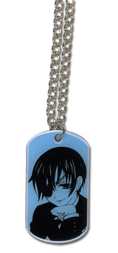 Black Butler Ciel Dogtag Necklace, an officially licensed Black Butler product at B.A. Toys.