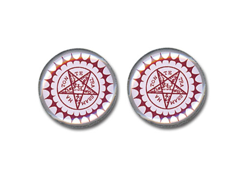 Black Butler Pentagram Earrings, an officially licensed product in our Black Butler Jewelry department.