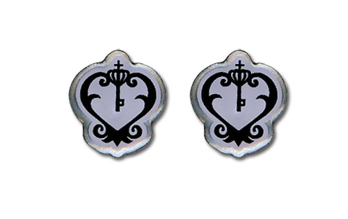 Black Butler Sebastian's Watch Emblem Earrings officially licensed product at B.A. Toys.