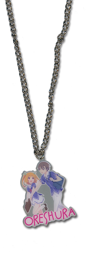 Oreshura Chiwa & Eita Metal Necklace, an officially licensed product in our Oreshura Jewelry department.
