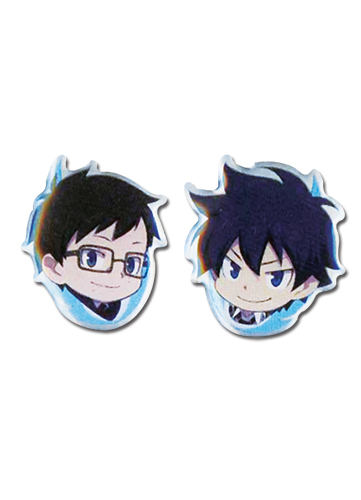 Blue Exorcist - Rin And Yukio Earrings officially licensed Blue Exorcist Jewelry product at B.A. Toys.