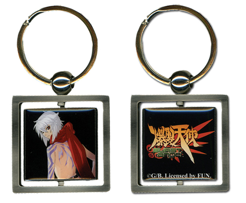 Burst Angel Jo Metal Key Chain, an officially licensed Burst Angel product at B.A. Toys.