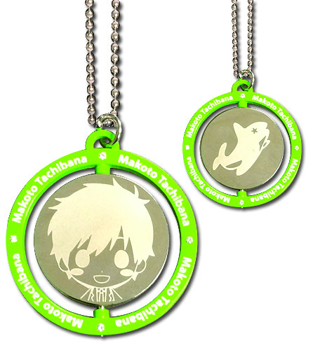 Free - Makoto Green Metal Necklace, an officially licensed product in our Free! Jewelry department.