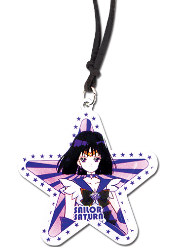 Sailor Moon - Sailor Saturn Star Necklace, an officially licensed product in our Sailor Moon Jewelry department.