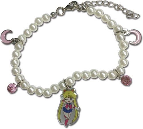 Sailor Moon - Sd Sailor Moon Pearl Bracelet, an officially licensed product in our Sailor Moon Jewelry department.