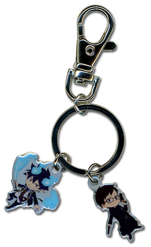 Blue Exorcist Rin And Yukio Metal Keychain, an officially licensed Blue Exorcist Key Chain