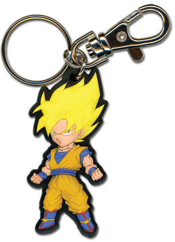 Dragon Ball Z Ss Goku Pvc Keychain, an officially licensed Dragon Ball Z Key Chain