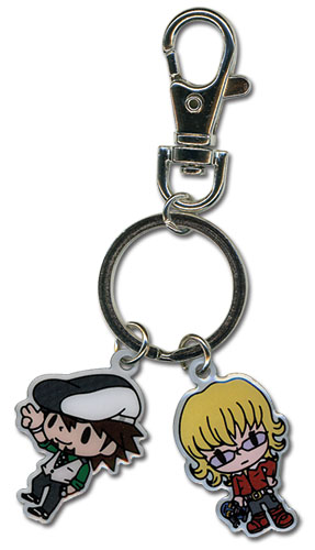 Tiger& Bunny Kotetsu & Barnaby Sd Metal Keychain, an officially licensed product in our Tiger & Bunny Key Chains department.