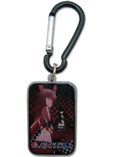 Black Rock Shooter Black Gold Saw Metal Keychain, an officially licensed Black Rock Shooter Key Chain