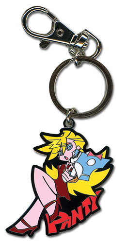 Panty & Stocking Panty Metal Keychain officially licensed Panty & Stocking Key Chains product at B.A. Toys.