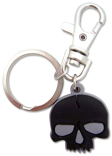 Black Rock Shooter Skull Pvc Keychain, an officially licensed Black Rock Shooter Key Chain