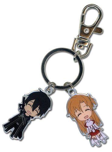 Sword Art Online Kirito & Asuna Metal Keychain, an officially licensed product in our Sword Art Online Key Chains department.