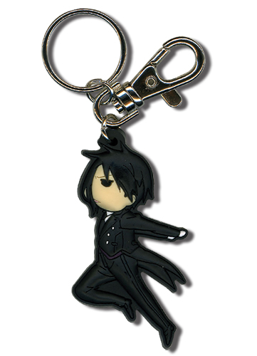 Black Butler Sd Jumping Sebastain Pvc Keychain, an officially licensed Black Butler Key Chain