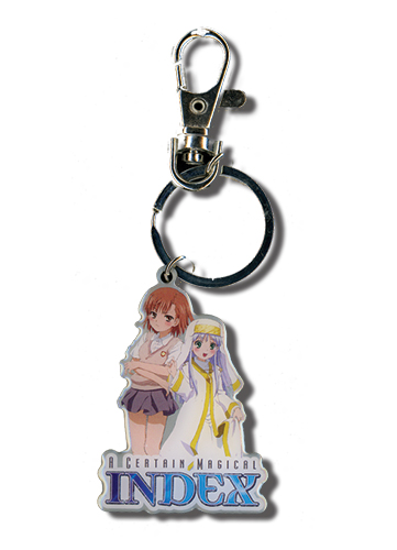 A Certain Magical Index & Misaka Metal Keychain, an officially licensed A Certain Magical Index Key Chain