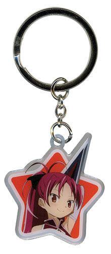 Madoka Magica Movie Kyoko Metal Keychain, an officially licensed product in our Madoka Magica Key Chains department.