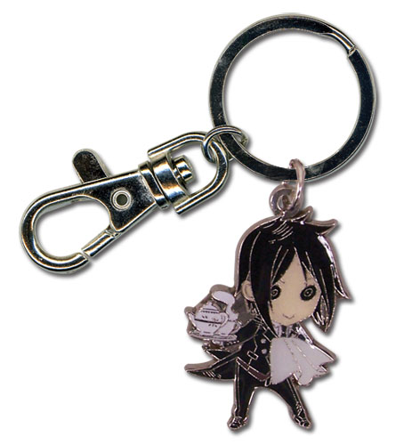 Black Butler Sebastian Sd Metal Keychain, an officially licensed Black Butler product at B.A. Toys.