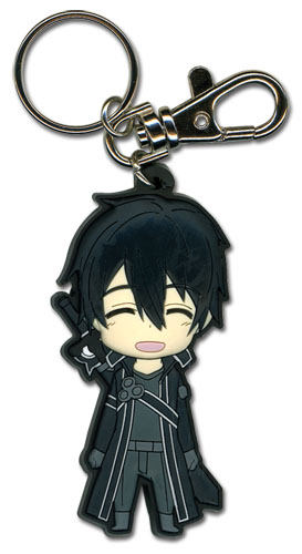 Sword Art Online - Happy Kirito Sd Pvc Keychain officially licensed Sword Art Online Key Chains product at B.A. Toys.