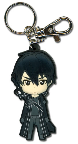 Sword Art Online - Angry Kirito Sd Pvc Keychain officially licensed Sword Art Online Key Chains product at B.A. Toys.