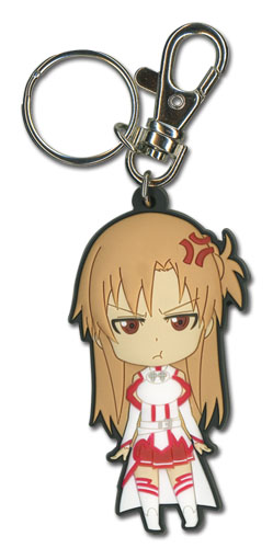 Sword Art Online - Angry Asuna Sd Pvc Keychain, an officially licensed product in our Sword Art Online Key Chains department.