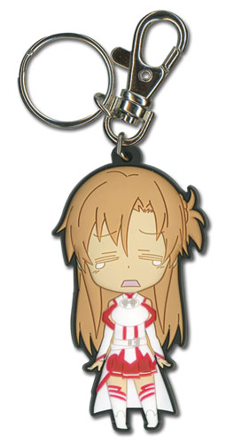 Sword Art Online - Crying Asuna Sd Pvc Keychain, an officially licensed product in our Sword Art Online Key Chains department.