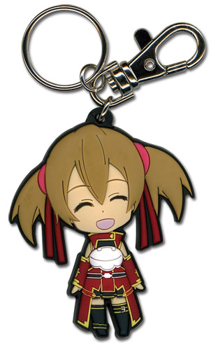 Sword Art Online Happy Silica Sd Pvc Keychain officially licensed Sword Art Online Key Chains product at B.A. Toys.