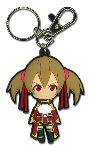 Sword Art Online - Angry Silica Sd Pvc Keychain officially licensed Sword Art Online Key Chains product at B.A. Toys.