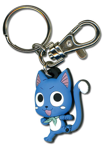 Fairy Tail - Sd Happy Sc Pvc Keychain, an officially licensed product in our Fairy Tail Key Chains department.