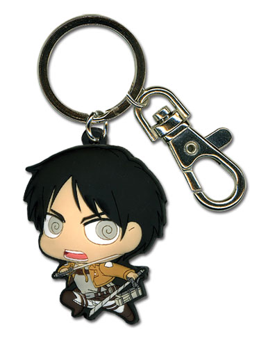 Attack On Titan - Sd Eren Pvc Keychain, an officially licensed product in our Attack On Titan Key Chains department.