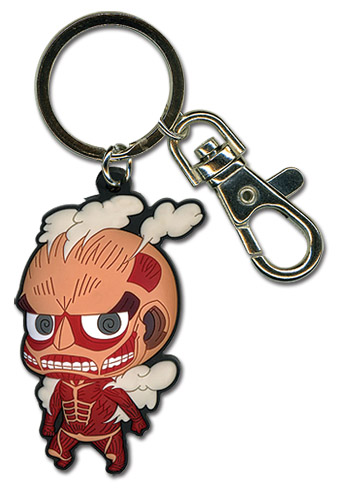 Attack On Titan - Sd Titan Pvc Keychain, an officially licensed Attack on Titan Key Chain