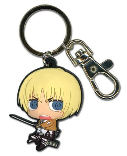 Attack On Titan - Sd Armin Pvc Keychain, an officially licensed Attack on Titan Key Chain
