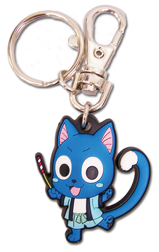 Fairy Tail - Sd Happy Yukata Pvc Keychain, an officially licensed product in our Fairy Tail Key Chains department.