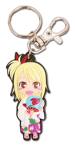 Fairy Tail - Sd Lucy Yukata Pvc Keychain, an officially licensed Fairy Tail Key Chain