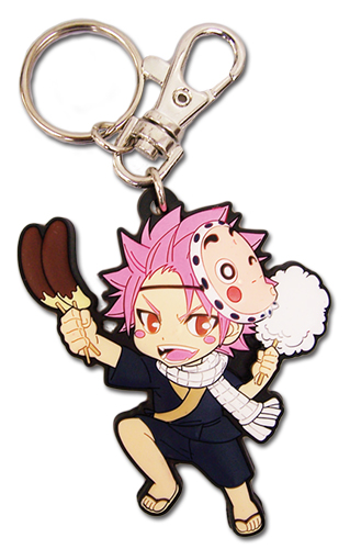 Fairy Tail - Sd Natsu Yukata Pvc Keychain, an officially licensed Fairy Tail Key Chain