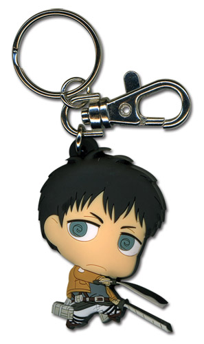 Attack On Titan - Sd Bertholdt Pvc Keychain, an officially licensed Attack on Titan Key Chain
