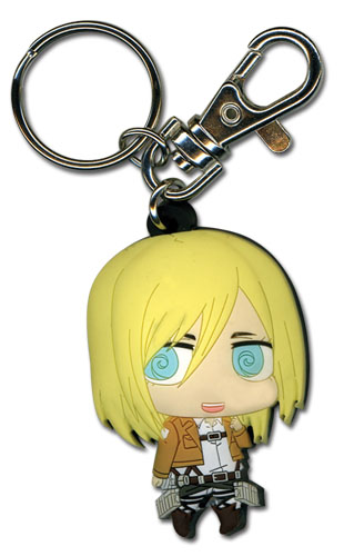 Attack On Titan - Sd Christa Pvc Keychain, an officially licensed product in our Attack On Titan Key Chains department.