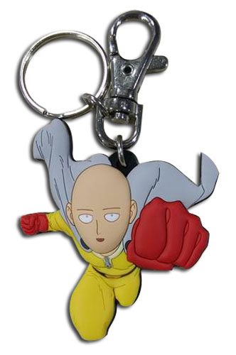 One Punch Man - Saitama Pvc Keychain, an officially licensed product in our One-Punch Man Key Chains department.